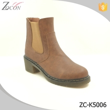 Brown leather factory wholesale men chelsea boots