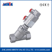 Y type pneumatic control angle seat valve
