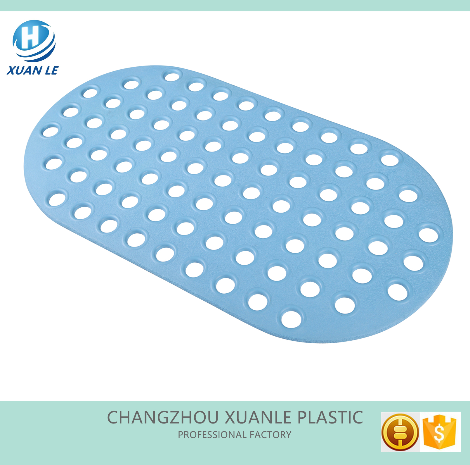 Factory supply custom size bath mat for spa