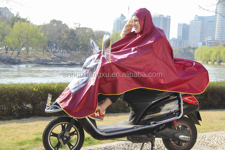 Customized Safe Reflective electronic motorcycle cover type rain ponchos for men