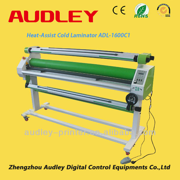 Audley large format electric durable rubber roller cold solventless lamination machine