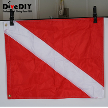 Nylon spearfishing flag (white/blue) and boat/dive flag