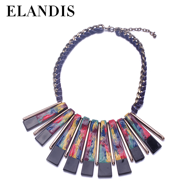 E-ELANDIS Lovely Chunky Hammered Metal Alloy Necklace For WomenNL13929
