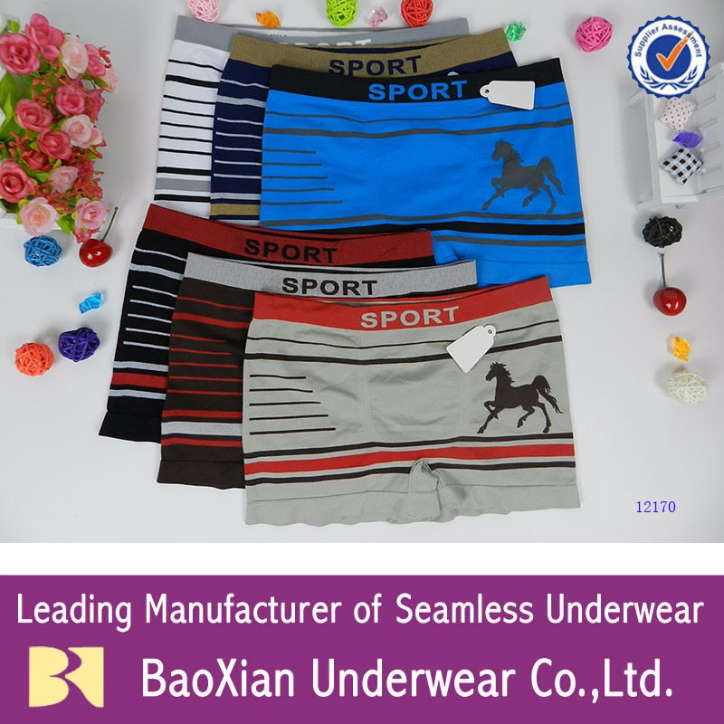 New boys seamless underwear horses 2017 boxer briefs kids children Awesome Nylon Healthy breathable degradable
