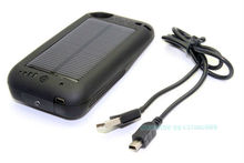 2400mAh Mini Solar Powered Power Back Up Battery Charger Case for iPhone 4 4S
