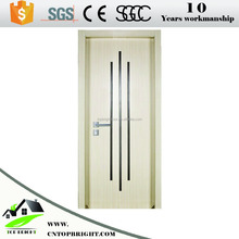 Stylish design for apartment house melamine wooden flush door