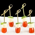 decorative disposable bamboo knotted appetizer picks /food picks