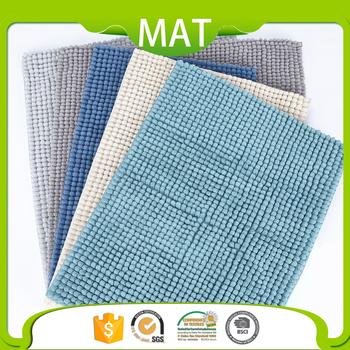 Modern Rug Design Custom Short Piles 100% Polyester Chenille Bath ...
