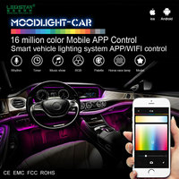 Moonlight-Car interior LED light car 12V, smart mobile APP control car interior decoration LED light KIT A