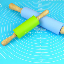 colorful durable easy to clean silicone rolling pin