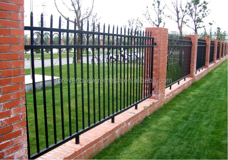 Backyard welded bending fence square tube decorative wire mesh fence