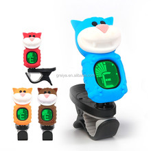 Hot selling cartoon shape guitar tuner clip on tuner