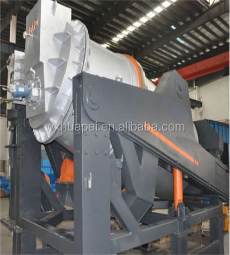 10 Ton gas universal tilting rotary melting furnace for aluminium scrap and dross