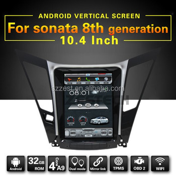 Android car dvd for Hyundai Sonata 8 with 10.4 inch screen wifi bluetooth radio navigation