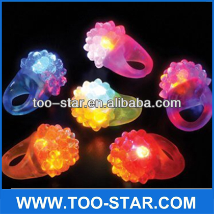 Muti-color Flashing Led Bumpy Ring ,Led Flashing Rubber Ring Manufacturer
