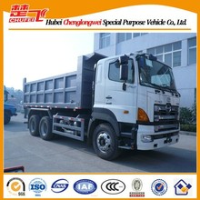 LHD manual transmission 6x4 350/380HP 10 ton dump truck hino