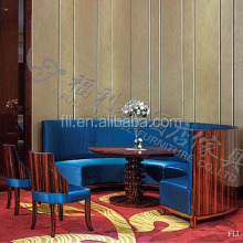 Latest modern wooden coffee shop restaurant furniture set