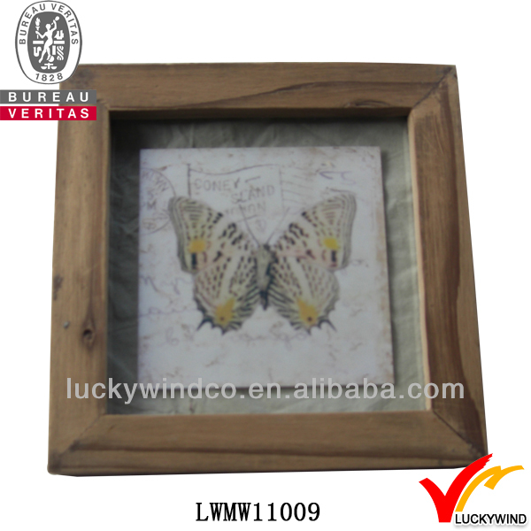 shabby chic square mdf butterfly picture frame hanging systems