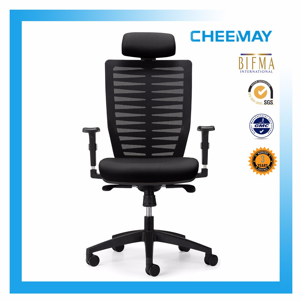 Elastic plastic office chair higher back to lumbar office excutive chair