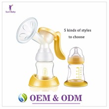 Oem hands free breast pump enlarge with twin cup
