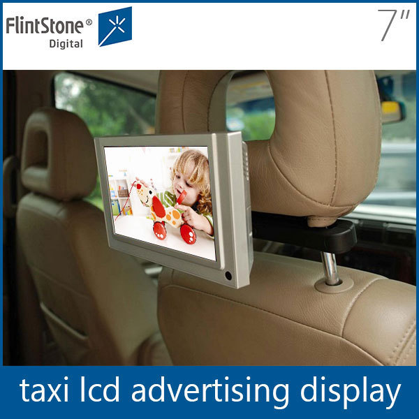 7inch tft lcd monitor,lcd cab car taxi advertising screen,lcd ad tv mini usb media player