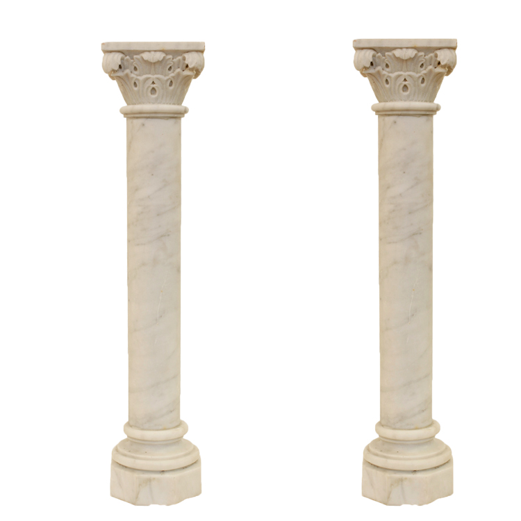 China supplier decorative marble roman corinthian columns for sale