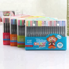Factory Sell Hexagon Water Color Brush Pen Set For Kids