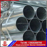 Hot product galvanized round steel pipe for greenhouse frame china manufacture