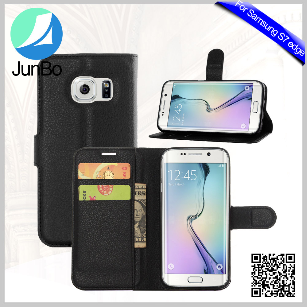 Wallet Style Synthetic Leather Flip Phone Cases For Samsung Galaxy S7 edge