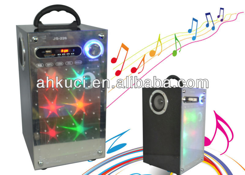 2.1 CH Portable PA Speaker USB Portable Radio Speaker Music Amplifier Speaker #JS226