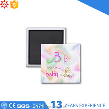 Baby metal material fridge magnet