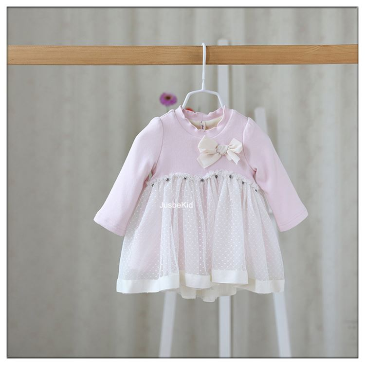 New Cotton Infant Casual Girl Clothes Baby Girl Winter Dresses
