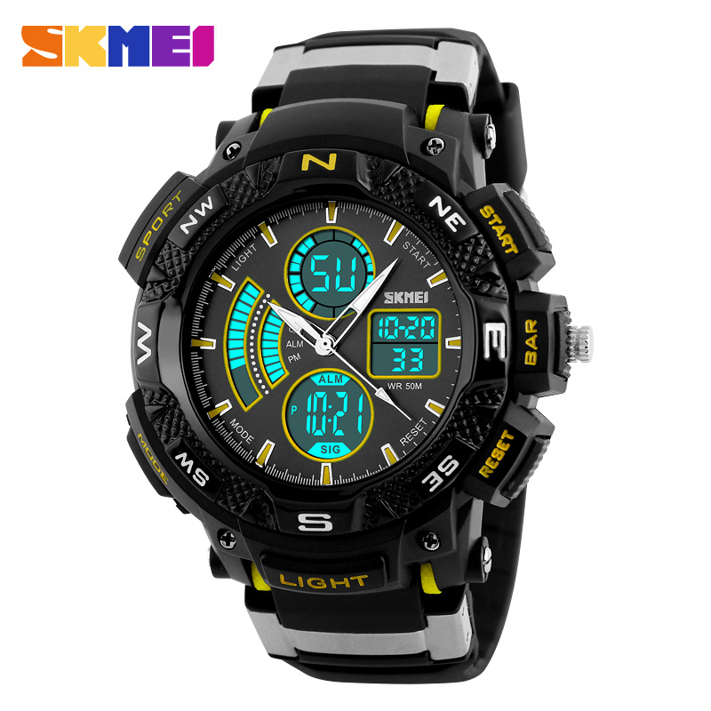 SKMEI 1211 China Wholesale Supplier 5ATM Backlight Custom LOGO Sport Digital Watches Men#relojes hombre