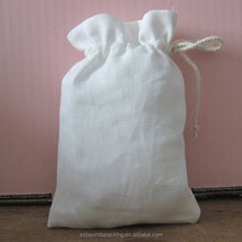 Soft Cotton Linen Drawstring Bag