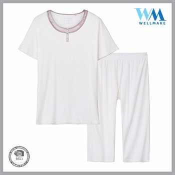 wholesale OEM best selling one set shorted 100% ctn solid homewear