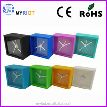 Silicone square mini size colorful gift alarm table clock
