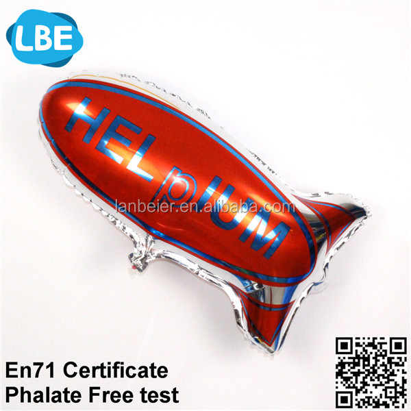 helium toy blimp balloon custom design for foil balloon