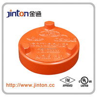 FM UL approved ductile iron pipe fitting of round pipe end cap