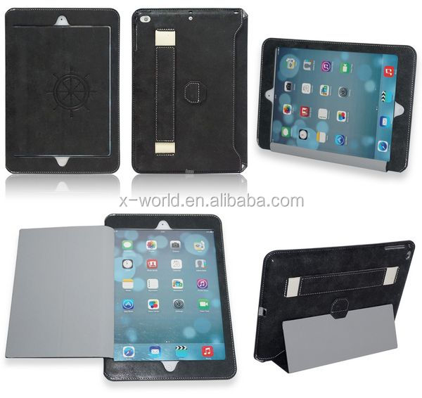 Window Design Full Protective Handheld Leather Case for iPad Air2