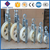 Singal wheel stringing block, cable pulley wheel