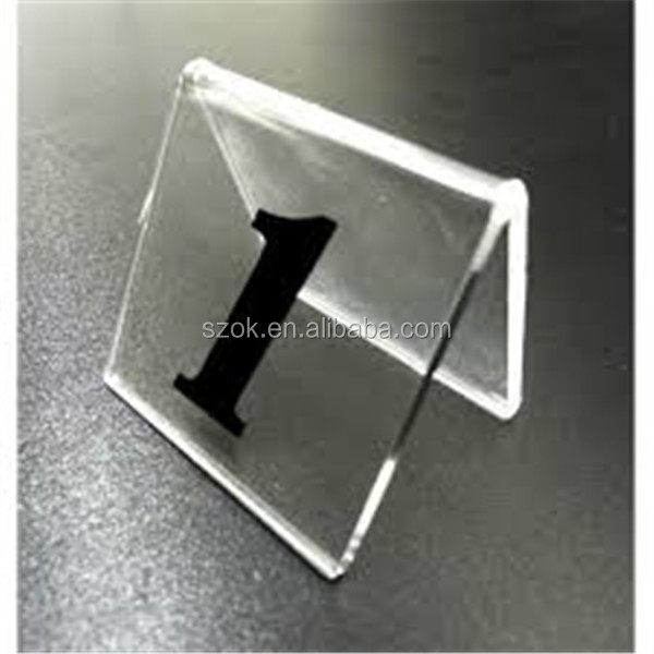 China Goods V Shape Clear Acrylic Table Number Holders Part 83