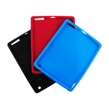 2015 Colors Soft Touch Silicon Shell Cover case For iPad 4