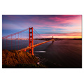 1 Panel HD Printed Golden Gate Bridge Painting on Canvas Modern City Sunset Scenery Canvas Prints/SJMT1887
