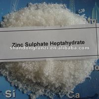 zinc sulphate heptahydrate znso4 7h2o, 98%, white fine crystalline powder