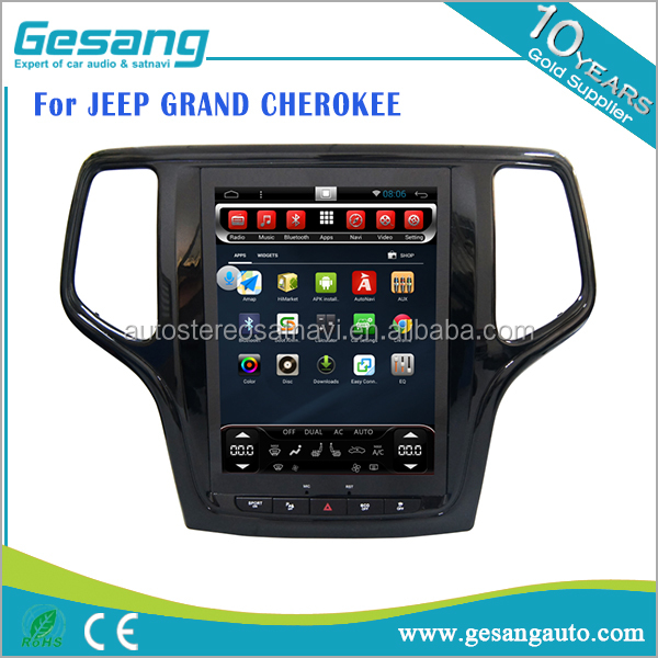 Auto entertainment system android 6.0 car dvd player for JEEP GRAND CHEROKEE with big touch screen