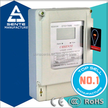 DTSY7666 Three phase electric kwh indoor electric meter box and prepaid electricity meter cases with card