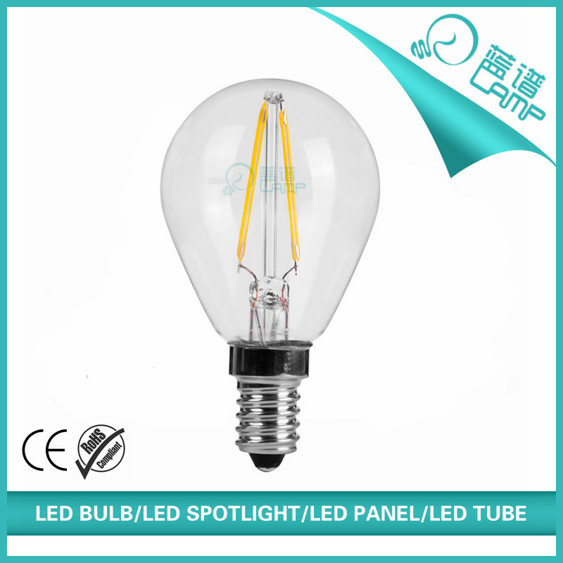 2W filament led bulb 360 degree beam led light 25W incandescent replacements