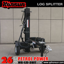 Honda GX200 gasoline powered 11 Gallon pump 610mm split length horizontal vertical hydraulic 26T wood processor