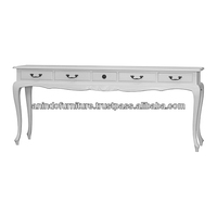 Mahogany Sweater Long Console Table with Drawers