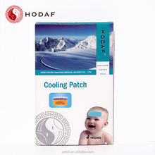 China Supplier Pain Relief Hydrogel Fever Reducing Cool Summer Cooling Ice Paste Cooling Gel Patch with CE hot sale
